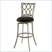 Pastel Furniture Piccard 26 Swivel Counter Stool in Klein Black