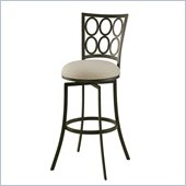 Pastel Furniture Piccard 30 Swivel Barstool in Klein Ivory