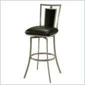 Pastel Furniture Sydney 26 Swivel Counter Stool in Cesium Silver/Onyx