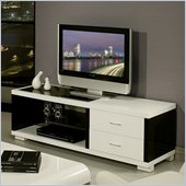 Pastel Furniture Fountainebleau TV Stand in Black and White