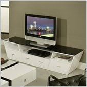Pastel Furniture Tourville High Gloss TV Stand in White