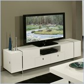 Pastel Furniture Viscounti High Gloss TV Stand in White