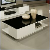 Pastel Furniture Cascadia High Gloss Coffee Table in White