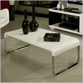 Pastel Furniture Kendall High Gloss Wood Finish Coffee Table in White