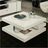 Pastel Furniture Viceroy High Gloss Wood Finish Coffee Table in White