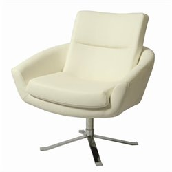 Pastel Furniture Aliante Upholstered Club Chair in Ivory