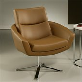 Pastel Furniture Aliante Club Chair in Pu Brown