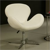 Pastel Furniture Le Parque Club Chair in Pu Ivory