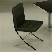 Pastel Furniture Aria Side Chair in Pu Black