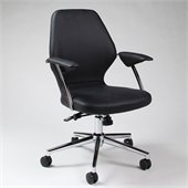 Pastel Furniture Ibanez Office Chair in Pu Black