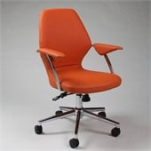 Pastel Furniture Ibanez Office Chair in Pu Orange