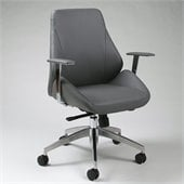 Pastel Furniture Isobella Office Chair in Pu Grey