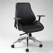 Pastel Furniture Isobella Office Chair in Pu Black