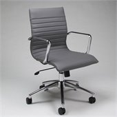 Pastel Furniture Janette Office Chair in Pu Grey