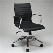 Pastel Furniture Janette Office Chair in Pu Black