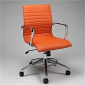 Pastel Furniture Janette Office Chair in Pu Orange