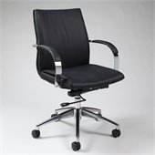 Pastel Furniture Josephina Office Chair in Pu Black