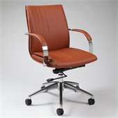 Pastel Furniture Josephina Office Chair in Pu Brown
