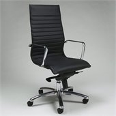Pastel Furniture Kaffina Office Chair in Pu Black