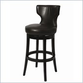 Pastel Furniture Augusta 26 Barstool in Bonded Brown Leather