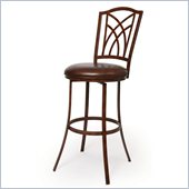 Pastel Furniture Kyra 26 Barstool in Bonded Spice Leather