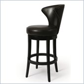 Pastel Furniture Venice 26 Barstool in Bonded Brown Leather