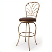 Pastel Furniture Villa Nova 30 Barstool in Bonded Spice Leather