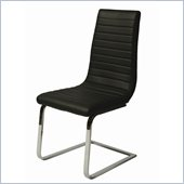 Pastel Furniture Skyline Side Chair Upholstered in Pu Black
