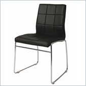 Pastel Furniture Golden Gate Side Chair Upholstered in Pu Black