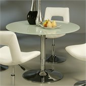 Pastel Furniture Sundance Round Dining Table in Frosted Glass