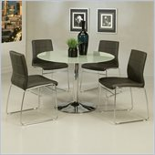 Pastel Furniture Sundance Frosted Glass 5 Piece Dining Set with Golden Gate Chairs