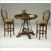 Pastel Furniture Carmel 3 Piece Pub Set in Cosmo Sepia