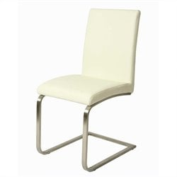 Monaco Upholstered Dining Chair in Stainless Steel