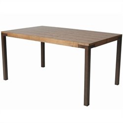 Pastel Furniture Amrita Dining Table in Coffee Brown and Walnut