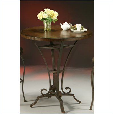 Pastel Furniture Athena 36&quot; Round Wood Pub Table in Autumn Rust