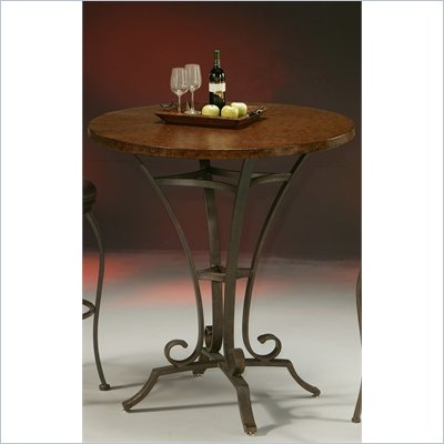 Pastel Furniture Athena 36&quot; Hammered Metal Pub Table in Autumn Rust