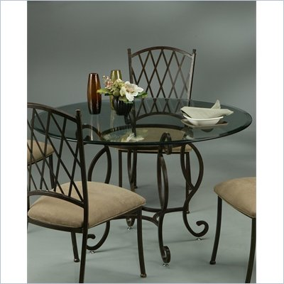 Pastel Furniture Atrium Elegant Dining Table in Autumn Rust
