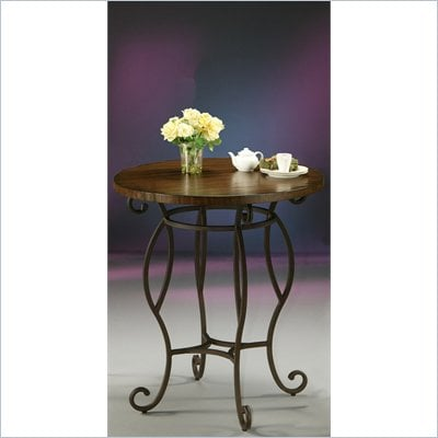 "Pastel Furniture Atrium 36"" Round Wood  Pub Table in Autumn Rust"