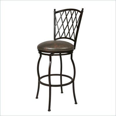 Pastel Furniture Atrium 30&quot; Swivel Bar Stool in Florentine Coffee