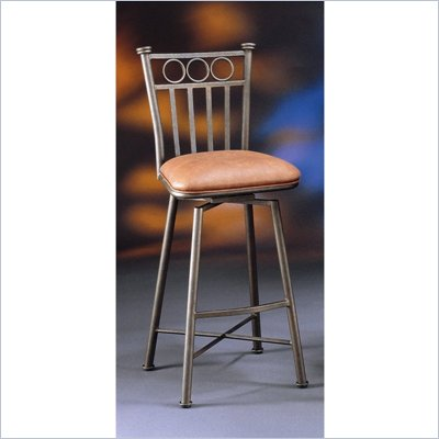 Pastel Furniture Bostonian Bronze 26&quot; Swivel Bar Stool in Shandora Toast