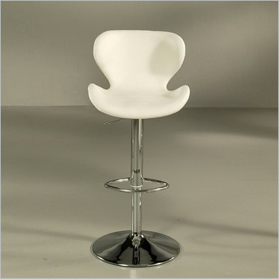 Pastel Furniture Cagliari 30&quot; Bar Stool In Chrome Upholstered In Ivory