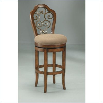 Pastel Furniture Carmel 30&quot; Swivel Bar Stool in Cosmo Sepia