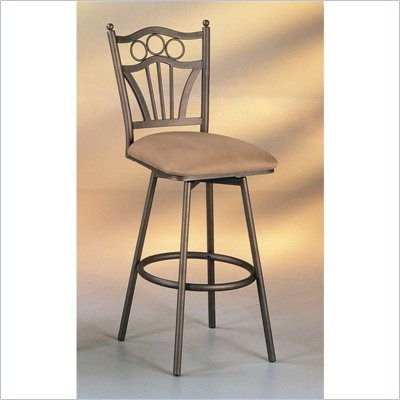 Pastel Furniture Florence 26&quot; Swivel Counter Stool in Topanga Brown