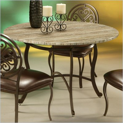 Pastel Furniture Island Falls Dining Table in Autumn Rust