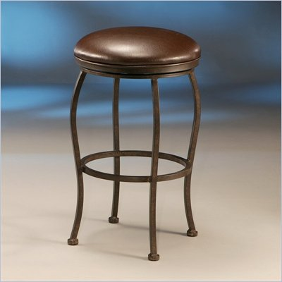 Pastel Furniture Island Falls Rust 26&quot; Backless Counter Stool in Ford Brown