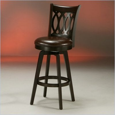 "Pastel Furniture Knollwood 26"" Swivel Bar Stool in Stallion Brown"