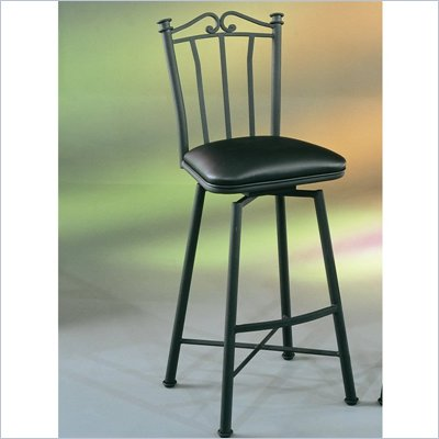 Pastel Furniture Laguna Black 30'' Swivel Bar Stool in Touch Black