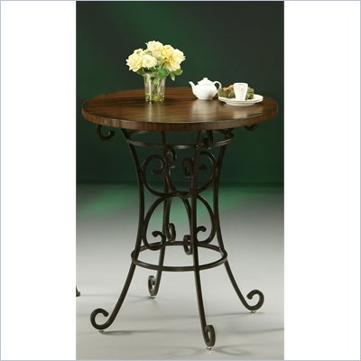 "Pastel Furniture Magnolia 36"" Round Wood Pub Table in Autumn Rust"