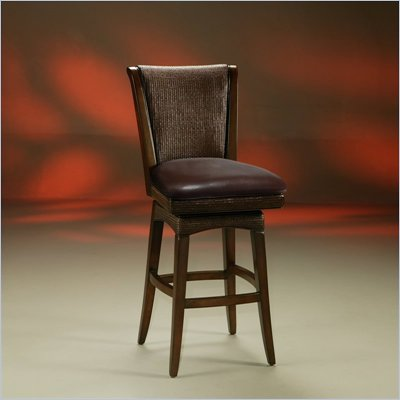 Pastel Furniture Mandalay 26'' Swivel Wood Counter Stool in Stallion Brown