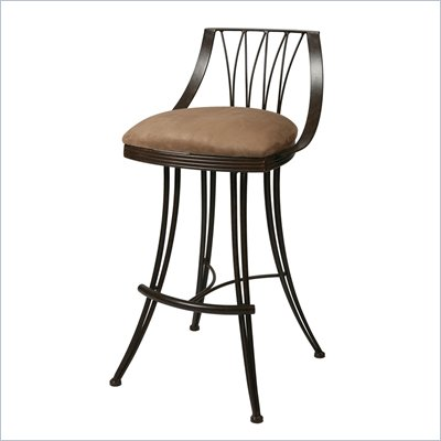 "Pastel Furniture Metropolitan Rust 26"" Counter Stool in Topanga Brown"